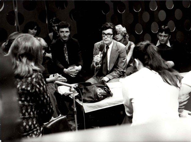 V roku 1978 ako moderátor Televízneho klubu mladých.