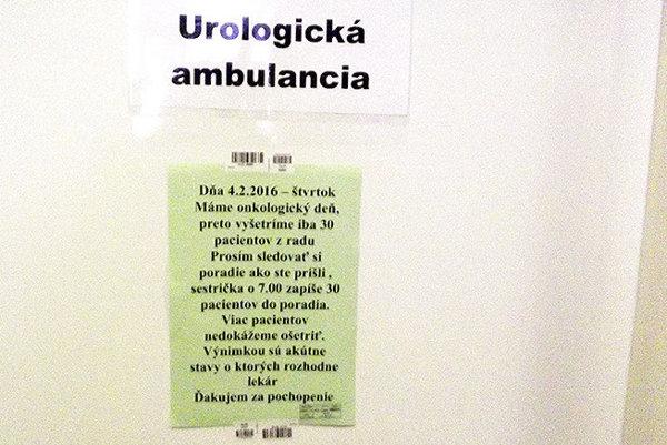 V čakárni u urológa 4. februára.