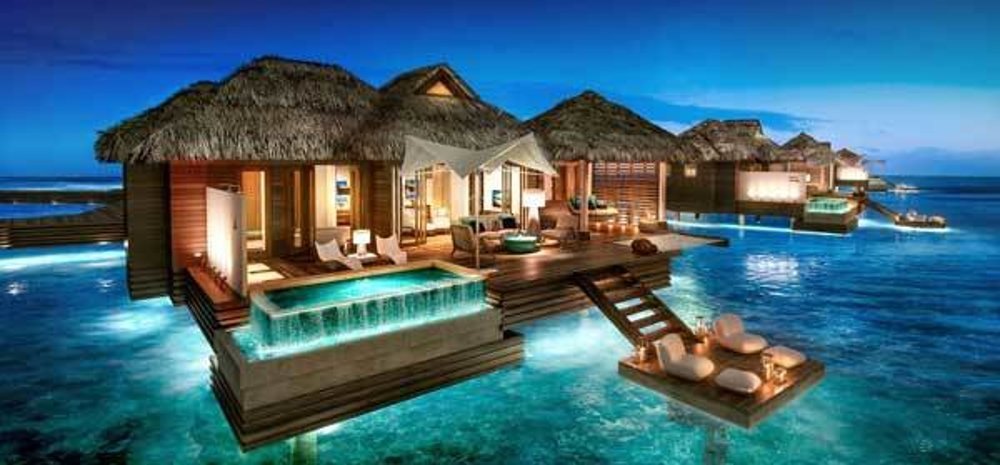 Vodné bungalovy budú súčasťou dokončovaného dovolenkového rezortu Montego Bay na Jamajke.