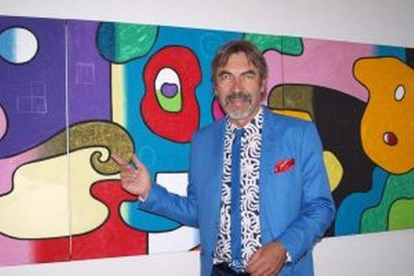 Daniel Bidelnica a jeden zo série jeho obrazov s názvom Kamufláže.