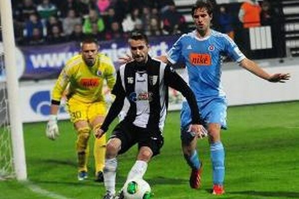 Ľubomír Urgela v zápase proti Slovanu.