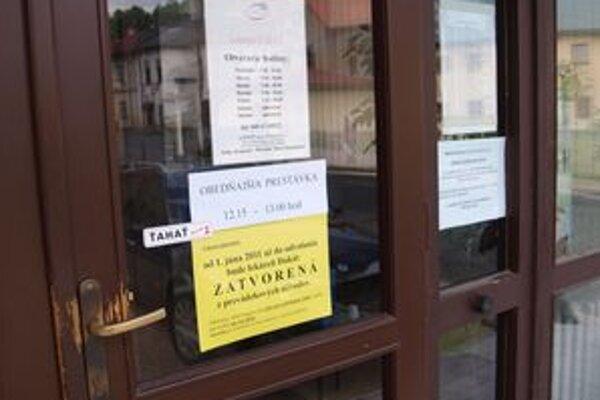 Od dnes je jediná lekáreň v meste zatvorená.