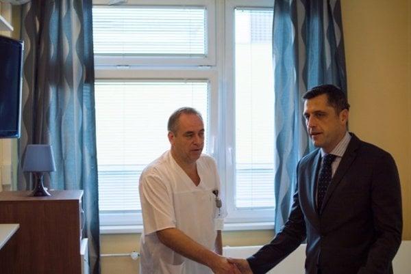 Igor Keher (v bielom) a Radoslav Štilla