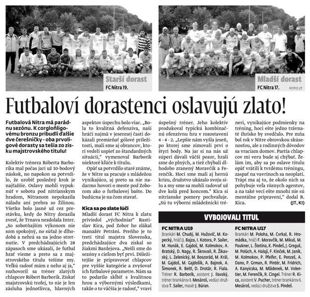 Článok z MY Nitrianskych novín z júna 2008.