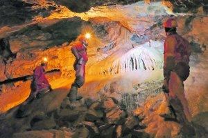 Vyzdobená chodba (1366 n.m.)v jaskyni Javorinka.