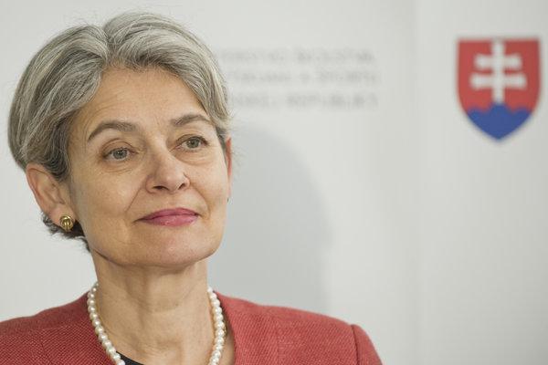 Na snímke generálna riaditeľka UNESCO Irina Bokovová.