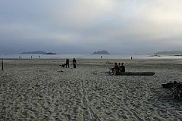 Pláž.