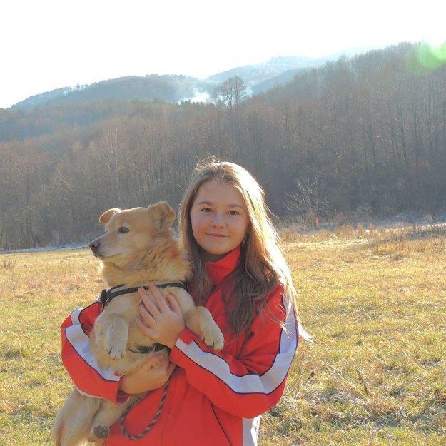 Najmladšia účastníčka dogtrekkingu, Kristína Minarčinová (14).