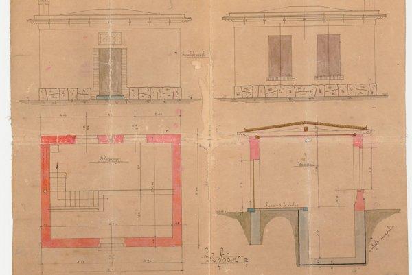 Projekt čerpacej stanice Sihoť z roku 1914.