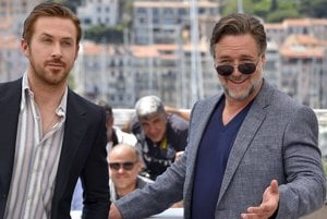 Russell Crowe a Ryan Gosling v Cannes.