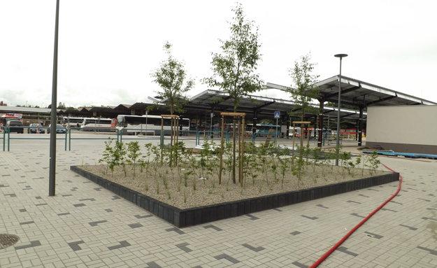 Na stanici pribudla táto plocha so zeleňou.