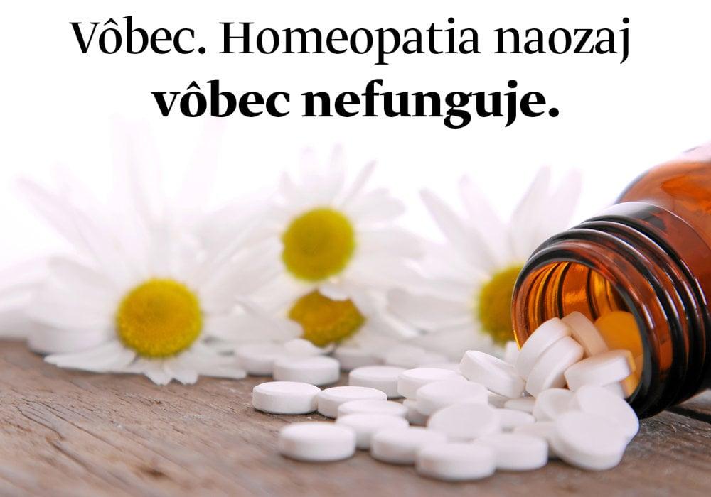Homeopatia nefunguje.