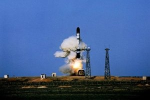 Štart  rakety R-36 Vojvoda.