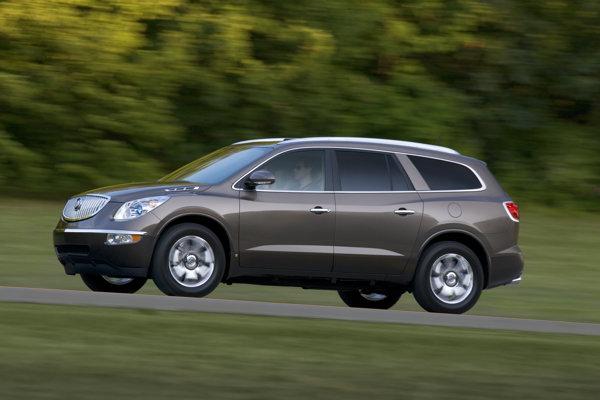 Buick Enclave, jeden z troch dotknutých modelov.
