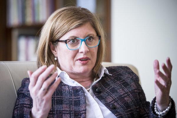 Ministerka pôdohospodárstva Gabriela Matečná.