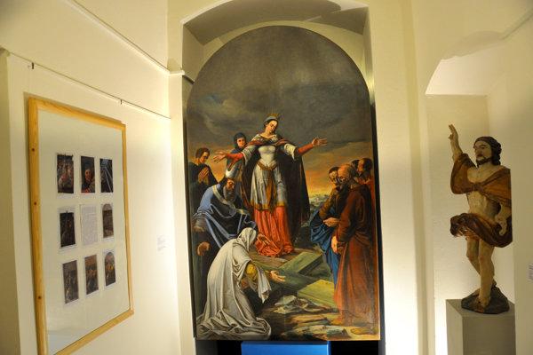 Jedným z obrazov vystavených pri príležitosti polstoročia Oravskej galérie bol aj zreštaurovaný sakrálny obraz s námetom Ukrižovania.