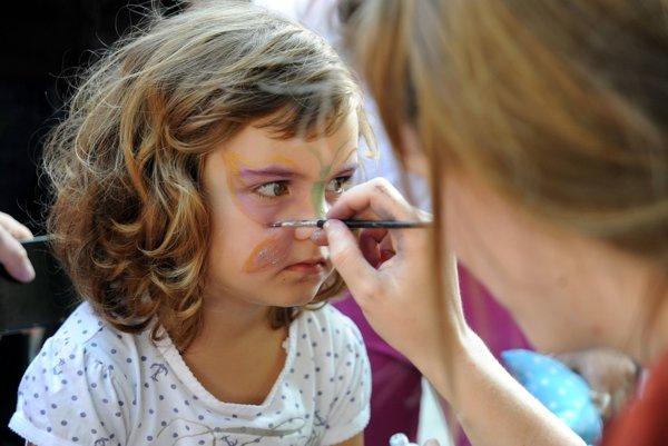 Deti sa môžu tešiť aj na maľovanie na tvár
