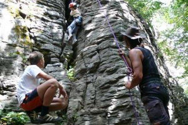 Skaly na Kalamárke sú na lezenie ako stvorené.