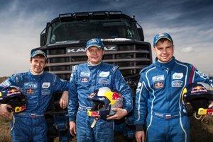 Nový Kamaz Master určený na rally Dakar 2017 a jeho posádka