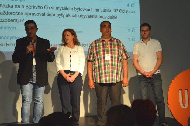 Zľava: Adrián Berky, Eva Farkašovská, Vojtech Bohó, Štefan Straka.