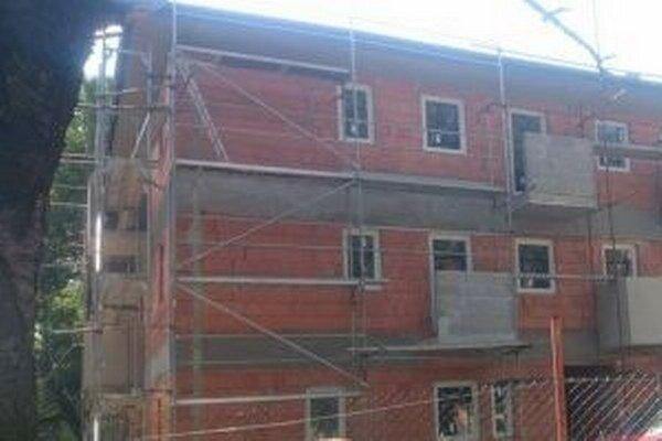 Stavba by mala byť dokončená v septembri (foto z konca júla 2015).