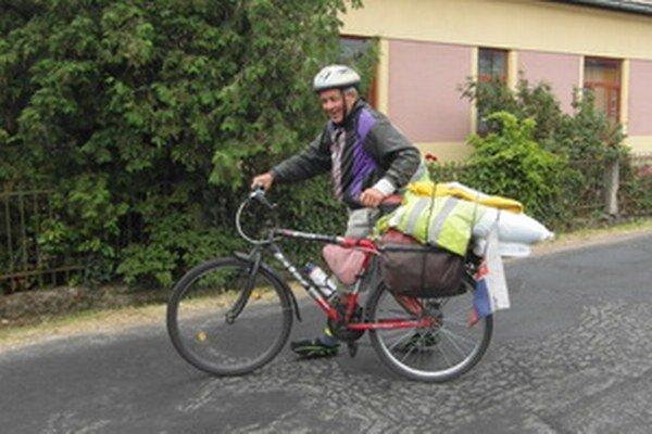 Laco Holub začal s bicyklovaním v roku 2010.