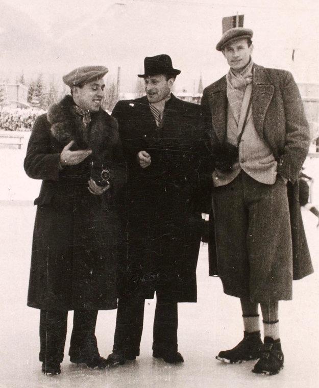V Tatrách - zľava Szabó, Máčik a Valent.