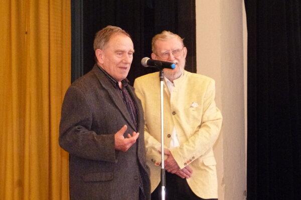 Miroslav Cipár (vľavo) spoločne sĽubomírom Feldekom.