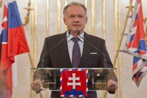 Prezident Kiska pri vyhlásení referenda.