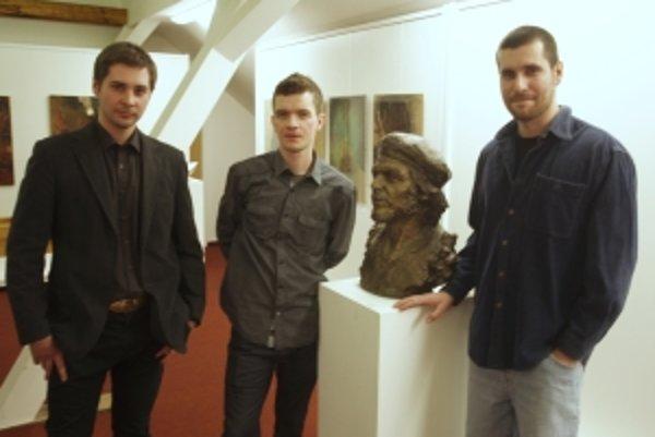 Zľava Ronald Doboš, Štefan Orth mladší a Lukáš Grohmann.