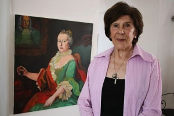Holíčska rodáčka, akademická maliarka Oľga Bartošíková.