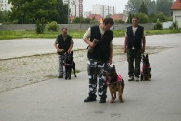 Psí záchranári pomáhajú policajtom aj zdravotníkom.