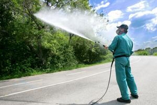 Zásah proti komárom.