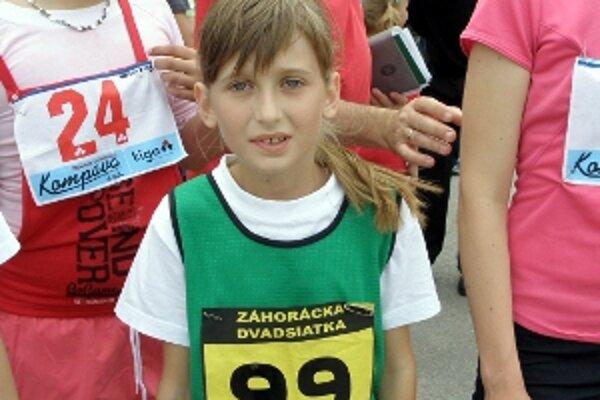 Ema Hačundová z MŠK Borský Mikuláš bola absolútnou víťazkou kategórie najmladších žiakov.