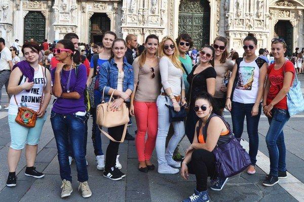 Študenti v Taliansku.