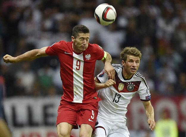Poliak Robert Lewandowski a Nemec Thomas Müller
