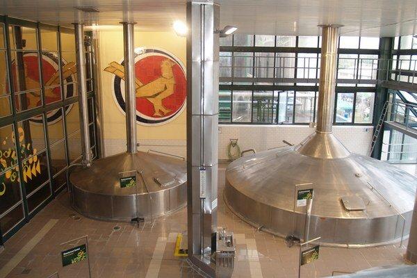 Najväčším lákadlom bola tradične prehliadka priestorov pivovaru.