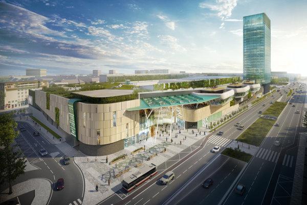 Takto by mala vyzerať nová autobusová stanica na Mlynských nivách.