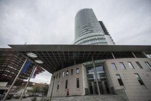 Sídlo Národnej banky Slovenska v Bratislave.