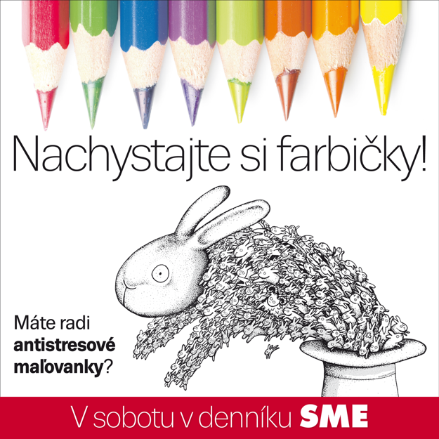 Antistresové maľovanky v denníku SME.