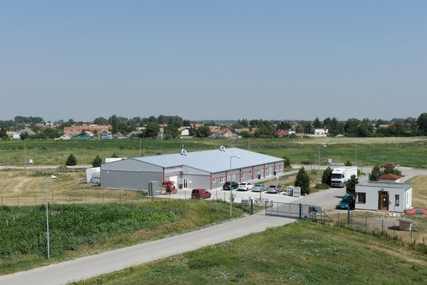 Na snímke priemyselný park v obci Diakovce.