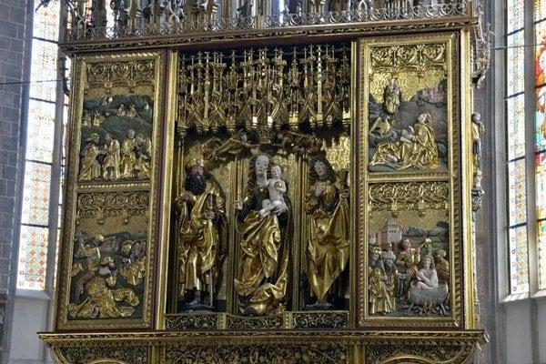 Oltár Majstra Pavla v levočskom chráme sv. Jakuba.