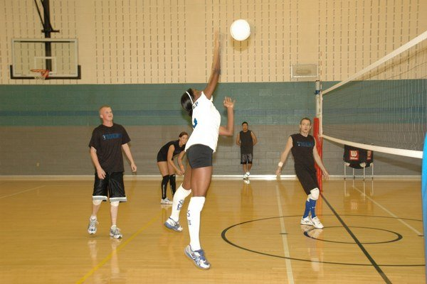 Jednou zo súťažných disciplín olympiády bol volejbal.
