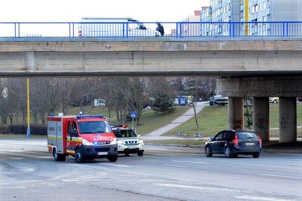 Most na KVP. Odtiaľ na cestu padal mladý Košičan.