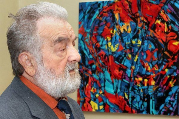 Michal Hajnal. Jubilant vystavuje diela vo VSG na Alžbetinej ulici.