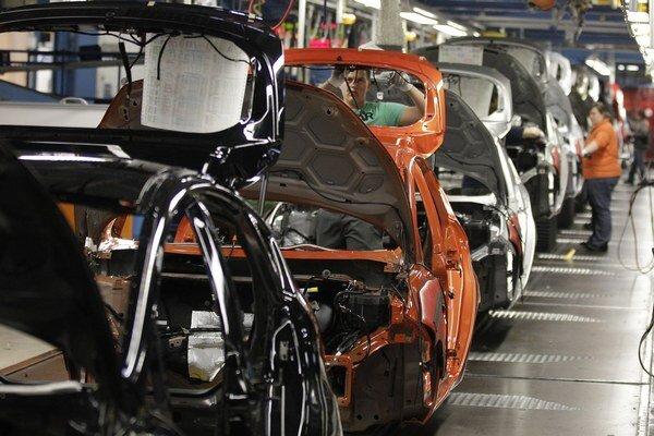 Výroba áut Ford Fiesta v Kolíne nad Rýnom.