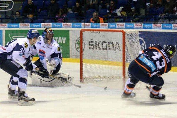 Štvrtý gól oceliarov. Takto ho strelil košický útočník Peter Bartoš.