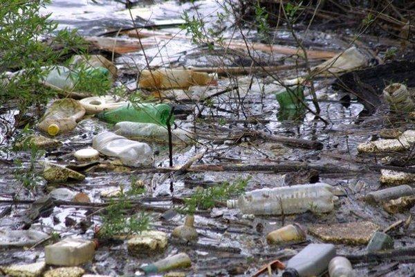 S každým väčším dažďom prichádza do Ružína nová várka odpadu.