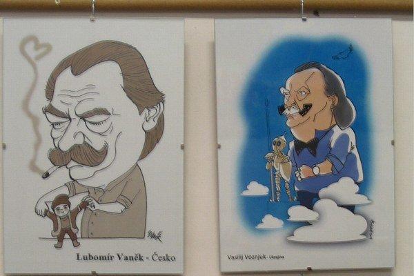 Úsmevné karikatúry. Pochádzajú z celého sveta.