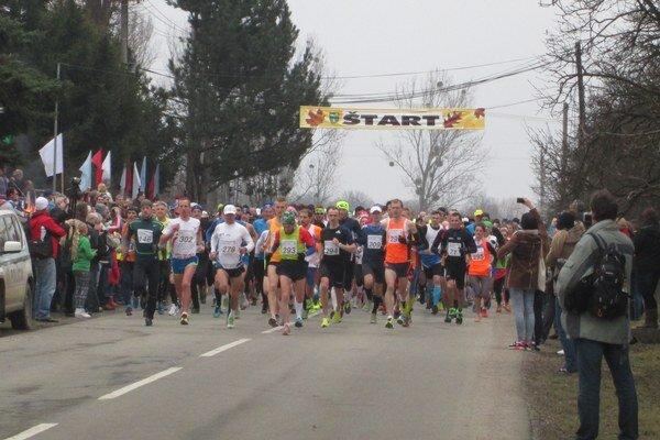 Štart pretekov v Blažiciach.